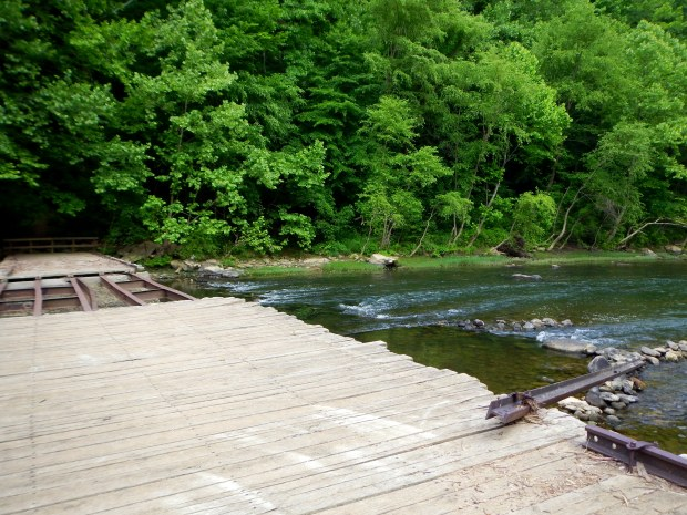 Historic low water bridge at Leatherwood Ford, Big South Fork Recreation Area, Tennessee