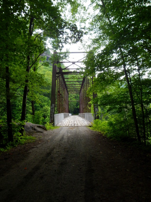 Approach to O&W Rail Bridge from other side, Big South Fork Recreation Area, Tennessee