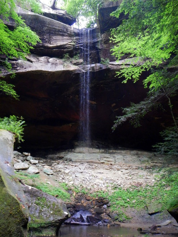 Yahoo Falls from below, Big South Fork Recreation Area, Kentucky
