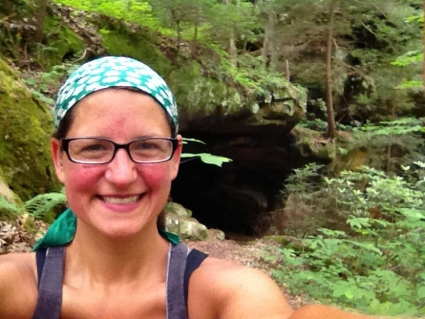 Crazy grin at Yahoo Arch, Big South Fork Recreation Area, Kentucky