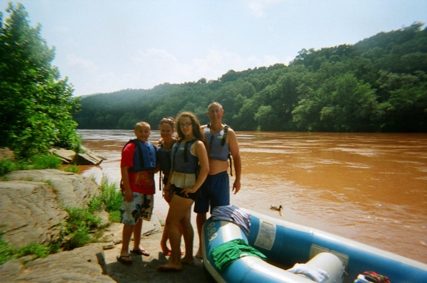 My sister's family, Delaware River, Pennsylvania/New York