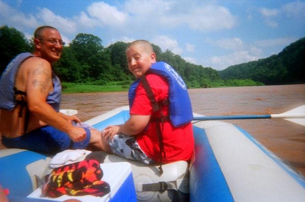 Kurt and Gabe, Delaware River, Pennsylvania/New York
