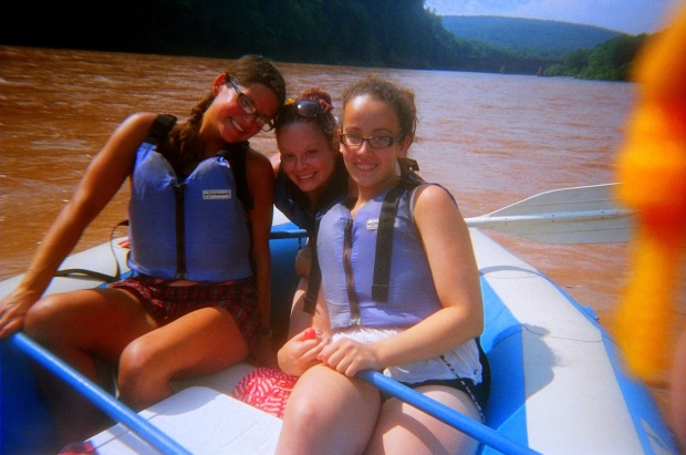 Me, Tina, and McKenzie, Delaware River, Pennsylvania/New York
