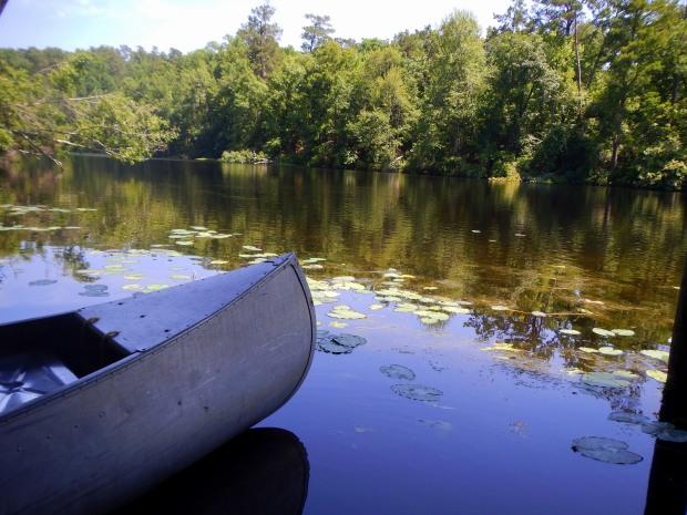 Canoe on Poinsett Park Lake, Poinsett State Park, South Carolina