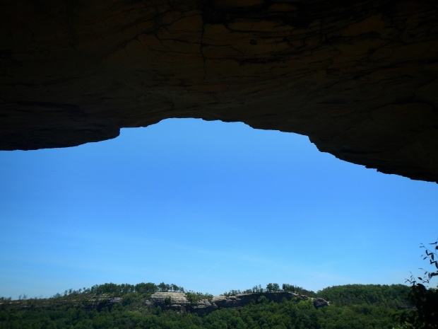 Looking at Auxier Ridge from under Double Arch, Daniel Boone National Forest, Kentucky