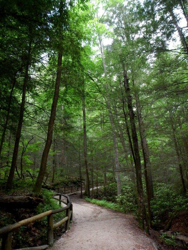 Beginning of Original Trail, Natural Bridge State Park, Kentucky