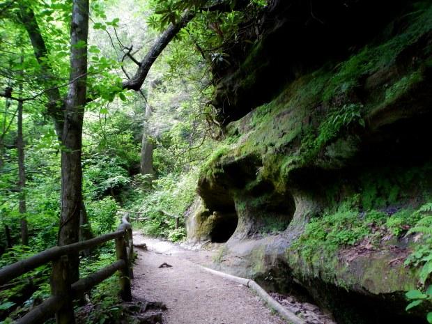 Original Trail along the cliffs, Natural Bridge State Park, Kentucky