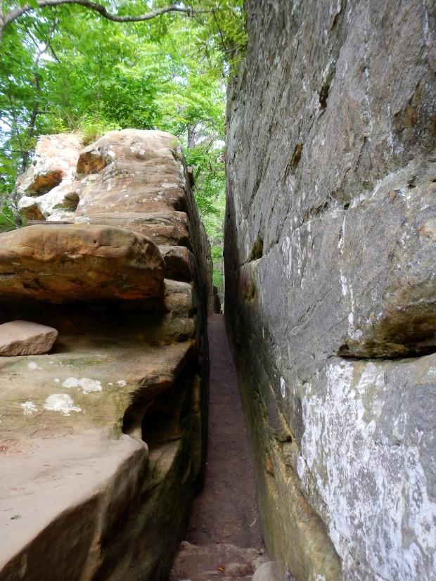 Rock joint, Natural Bridge State Park, Kentucky