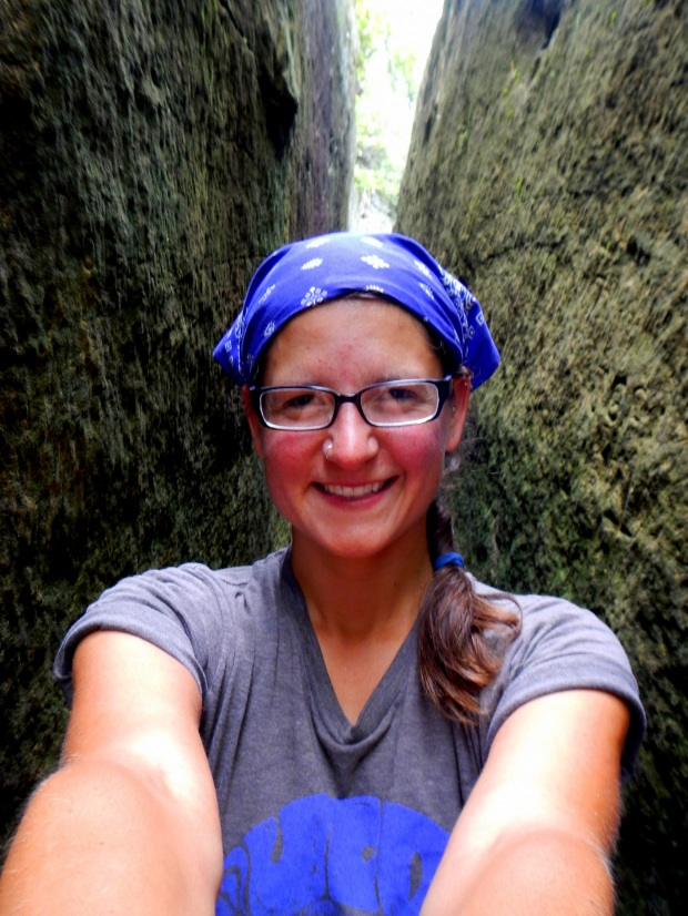 Me in the rock joint, Natural Bridge State Park, Kentucky