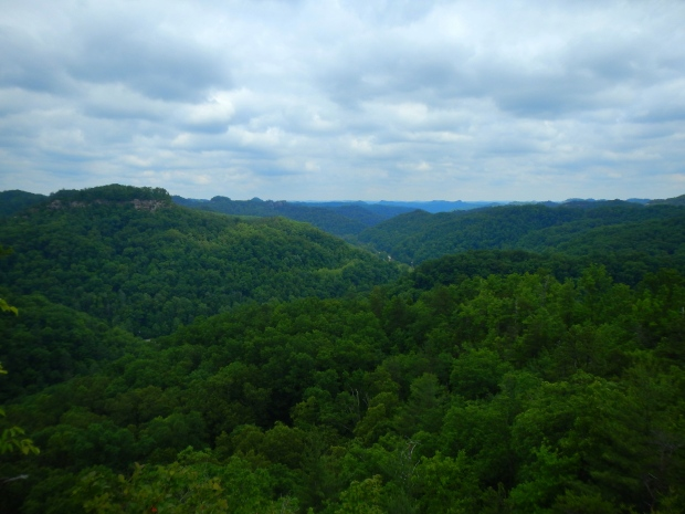 View from the end of Laurel Ridge near Lovers Leap Overlook, Laurel Ridge Trail, Natural Bridge State Park, Kentucky