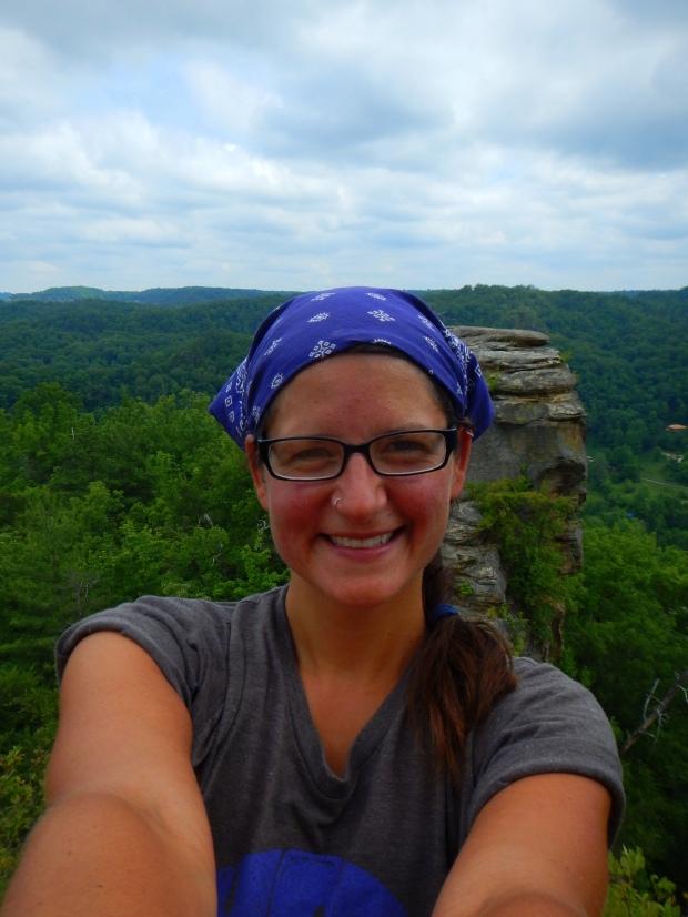 Me near Lovers Leap Overlook, Laurel Ridge Trail, Natural Bridge State Park, Kentucky