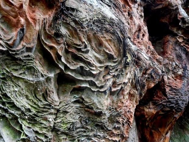 Amazing sandstone swirls, Balanced Rock Trail, Natural Bridge State Park, Kentucky