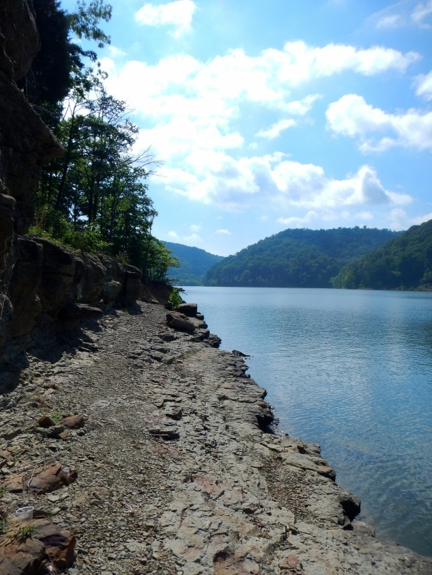 Rocky shore near Shallow Flats, Cave Run Lake, Daniel Boone National Forest, Kentucky