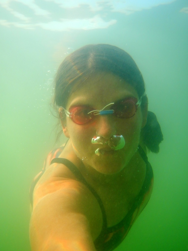 Underwater selfie, Lake Laurel River, Daniel Boone National Forest, Kentucky
