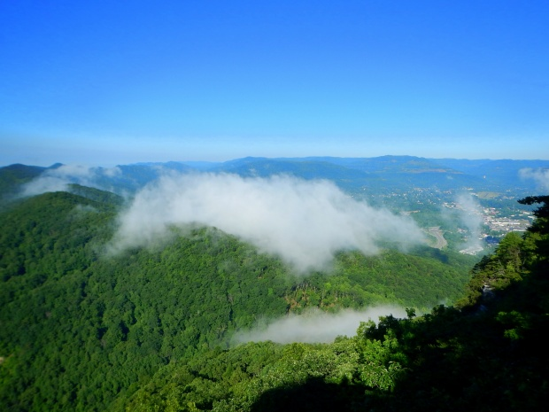 Fog moving through the Gap, Pinnacle Overlook, Cumberland Gap National Historical Park, Virginia