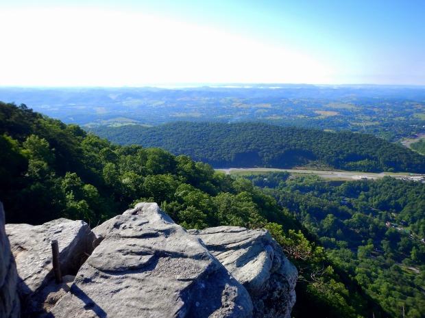 View into Virginia in the bright sun, Pinnacle Overlook, Cumberland Gap National Historical Park, Virginia