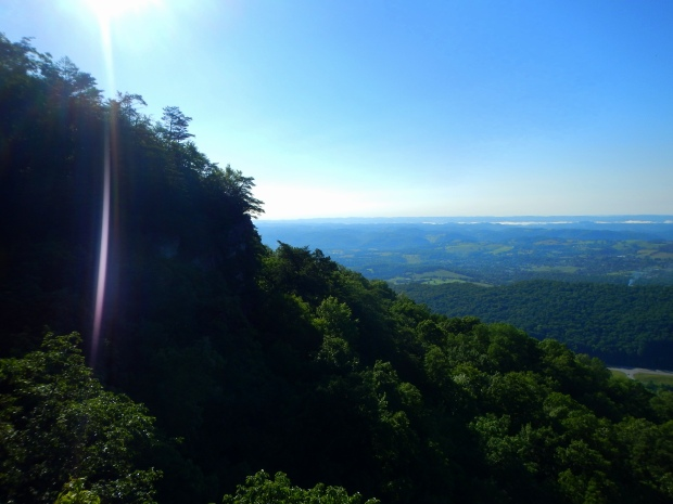View into Virginia in the bright sun, Pinnacle Overlook, Cumberland Gap National Historical Park, Virginia