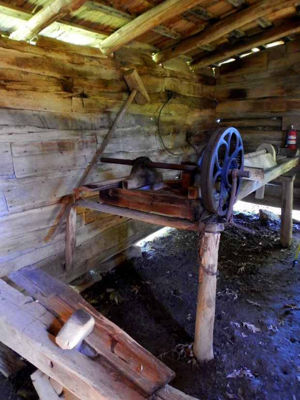 Wood lathe, Willie Gibbon's shophouse, Hensley Settlement, Cumberland Gap National Historical Park, Kentucky