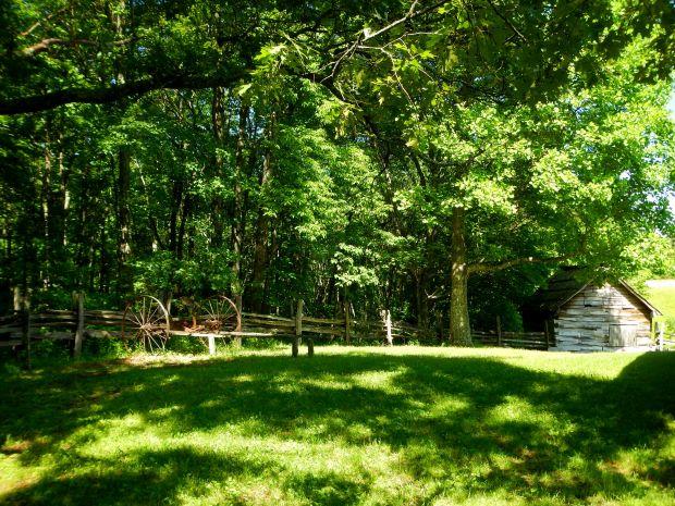 Granary and hayrake, Hensley Settlement, Cumberland Gap National Historical Park, Kentucky