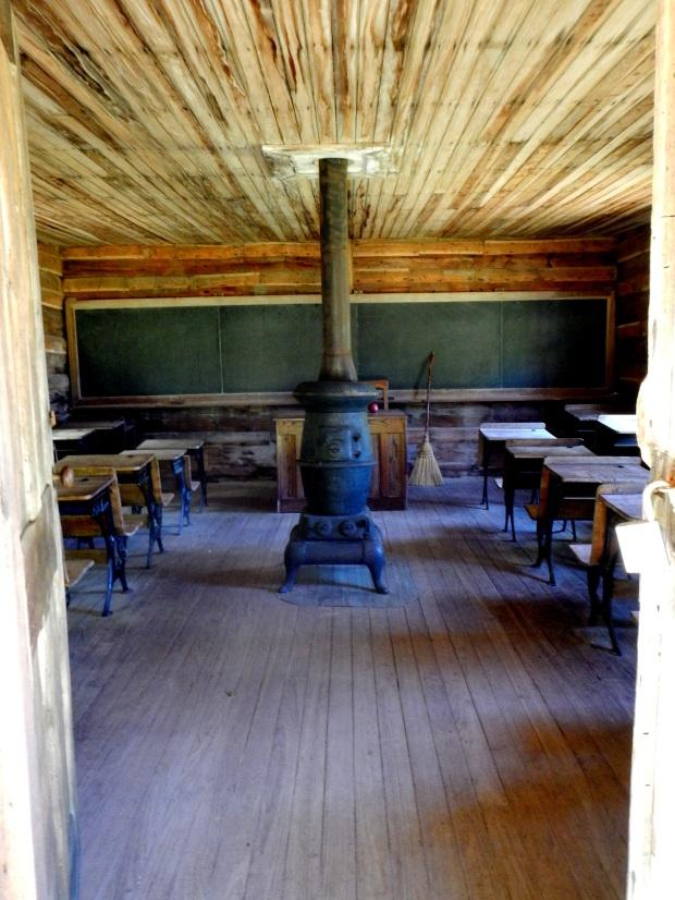 Inside of schoolhouse, Hensley Settlement, Cumberland Gap National Historical Park, Kentucky