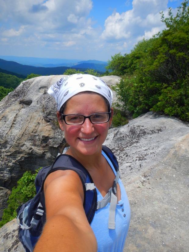 Me atop White Rocks, Cumberland Gap National Historical Park, Virginia