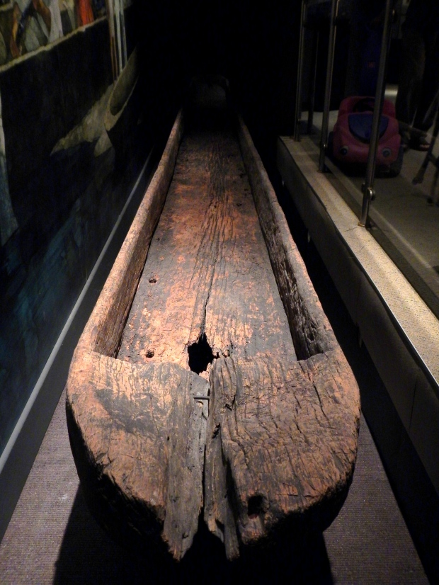 32 1/2 foot dugout canoe found in 1797 on Tennessee River, McClung Museum, Knoxville, Tennessee