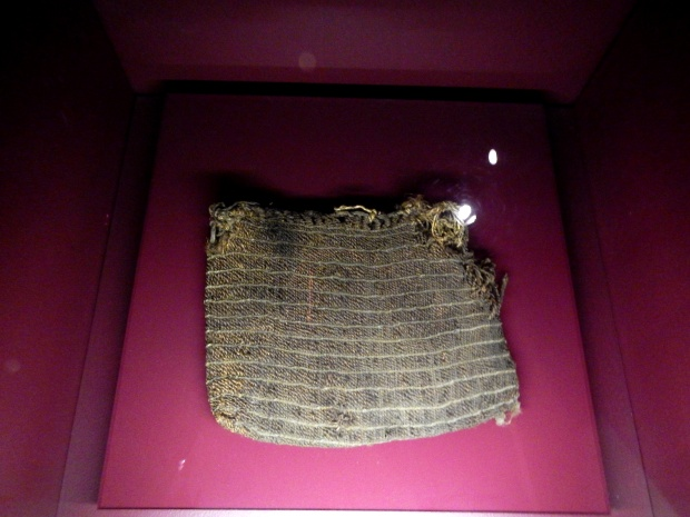 Preserved bag woven from vegetables fibers, (ca. 200 B.C.), McClung Museum, Knoxville, Tennessee