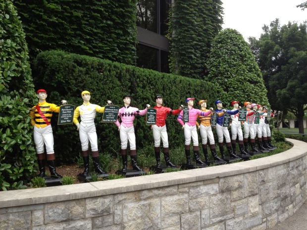 Colors of past stakes winners, Keeneland Racetrack, Lexington, Kentucky