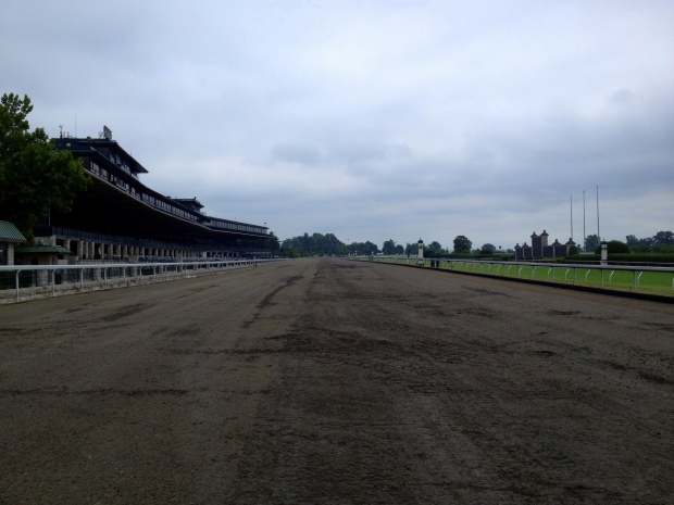 Walking on the track, Keeneland Racetrack, Lexington, Kentucky