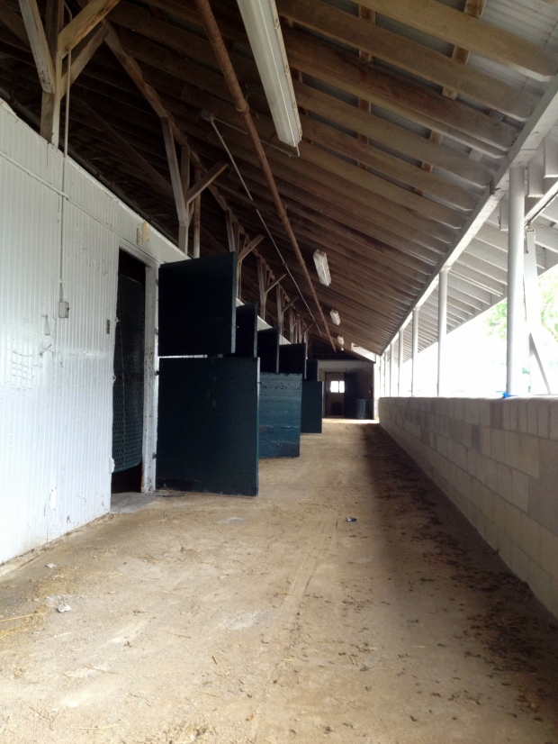 Empty stalls, Keeneland Racetrack, Lexington, Kentucky