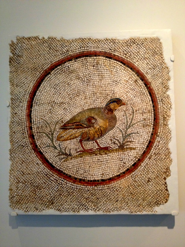 Mosaic of a partridge, Roman Tunisian, 2nd-3rd century A.D., Walters Art Museum, Baltimore Maryland