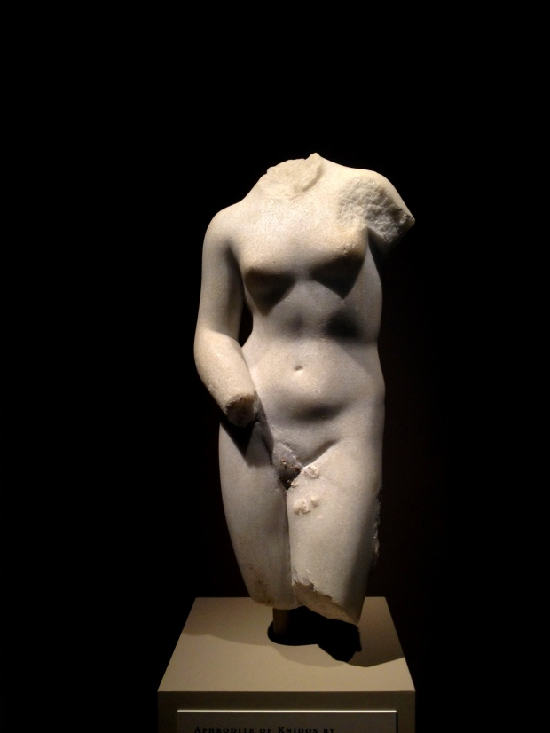 Hellenistic copy (1st C. B.C.) of Praxiteles' Aphrodite of Knidos (ca. 364 B.C.), Walters Art Museum, Baltimore Maryland