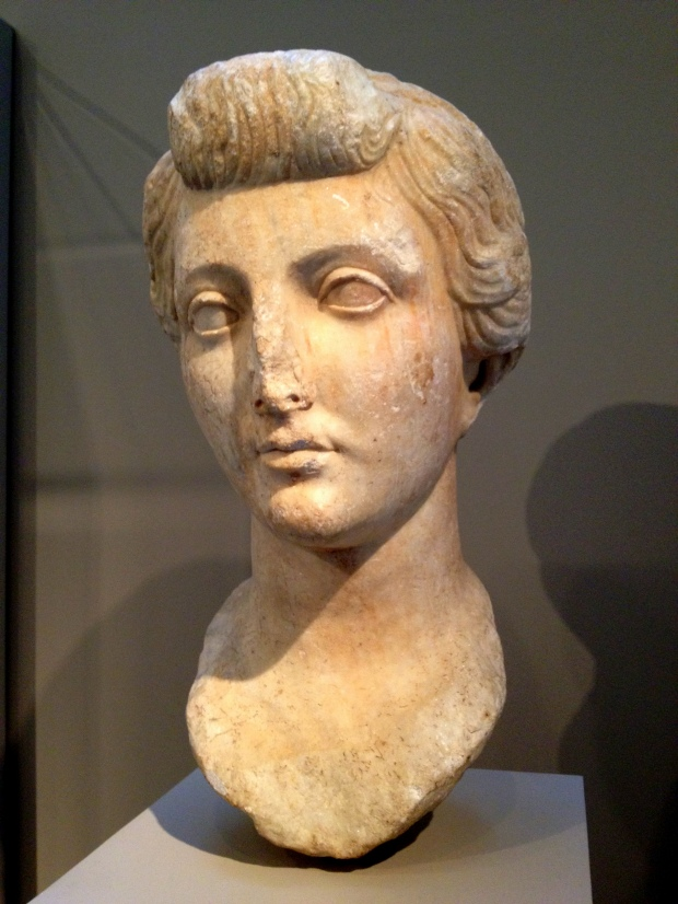 Late Republican (mid-30s B.C.) Portrait of Livia with exemplary nodus hairstyle, Walters Art Museum, Baltimore Maryland
