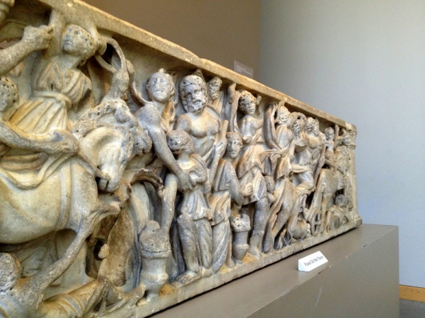 Roman sarcophagus depicting the Abduction of Persephone, ca. 200-220 A.D., Walters Art Museum, Baltimore Maryland