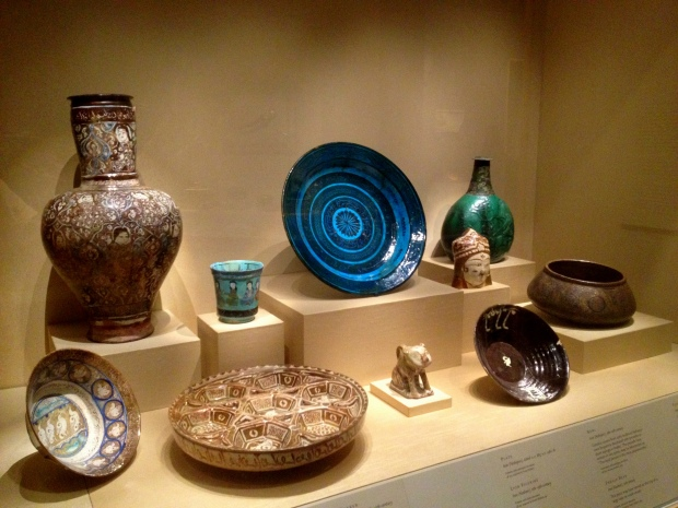 13th century Iranian pottery from Kashan, Walters Art Museum, Baltimore Maryland
