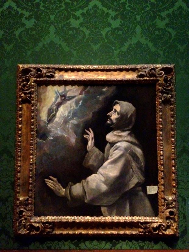 Saint Francis Receiving the Stigmata, El Greco, 1585-1590 A.D., Walters Art Museum, Baltimore Maryland