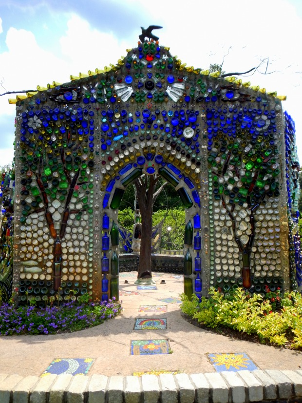 Bottle Chapel from front, Minnie Evans Sculpture Garden, Airlie Gardens, Wilmington, North Carolina