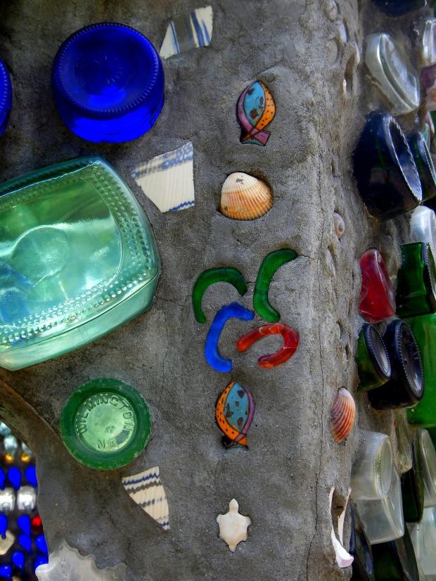 Details, Bottle Chapel, Minnie Evans Sculpture Garden, Airlie Gardens, Wilmington, North Carolina