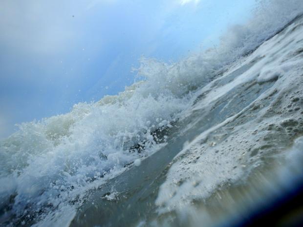 Waves and bubbles, Oak Island, North Carolina