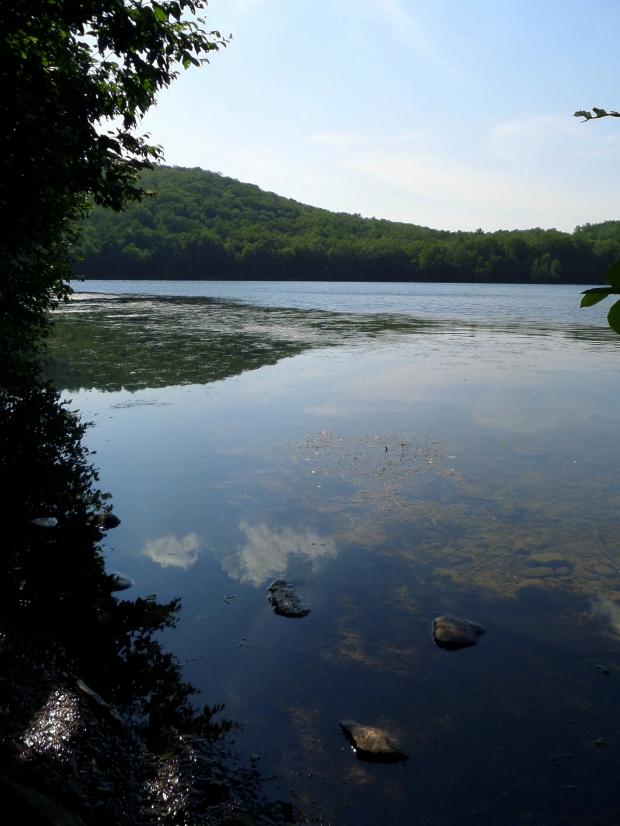 Cloud reflections in Monksville Reservoir, New Jersey