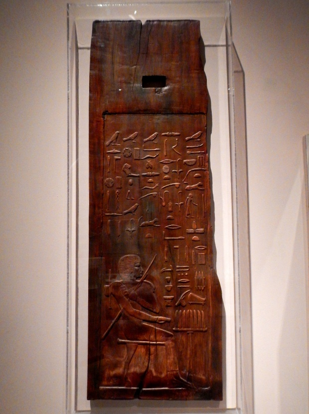 Plaster copy of Mastaba Tomb Panel (ca. 2700 B.C., original wood at the Metropolitan Museum of Art), McClung Museum, Knoxville, Tennessee