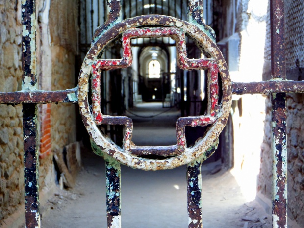 Gate on hospital wing, Eastern State Penitentiary, Philadelphia, Pennsylvania