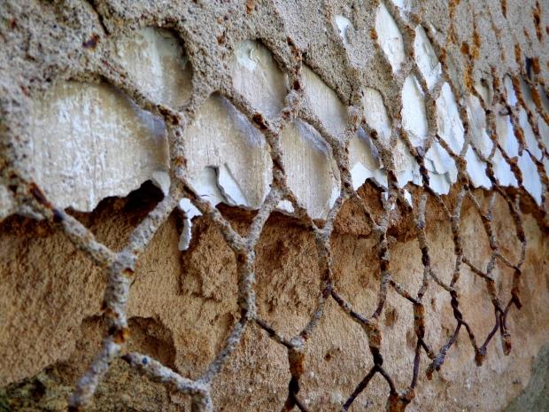 Decaying wall, Eastern State Penitentiary, Philadelphia, Pennsylvania