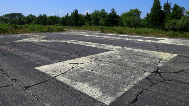Runway numbers, Ninigret Wildlife Refuge, Charlestown, Rhode Island