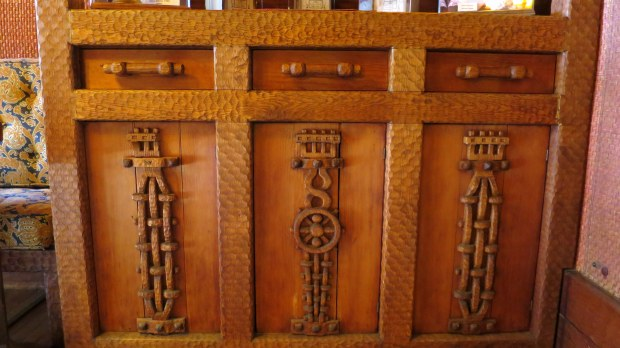 Carved sideboard, Gillette's Castle, Gillette Castle State Park, Connecticut