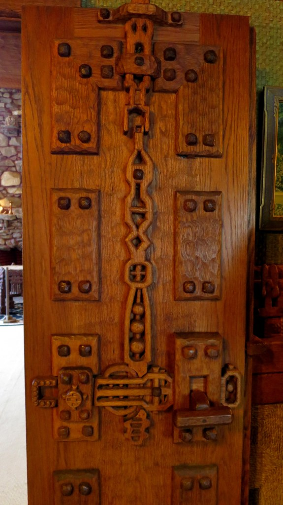 Carved door, Gillette's Castle, Gillette Castle State Park, Connecticut