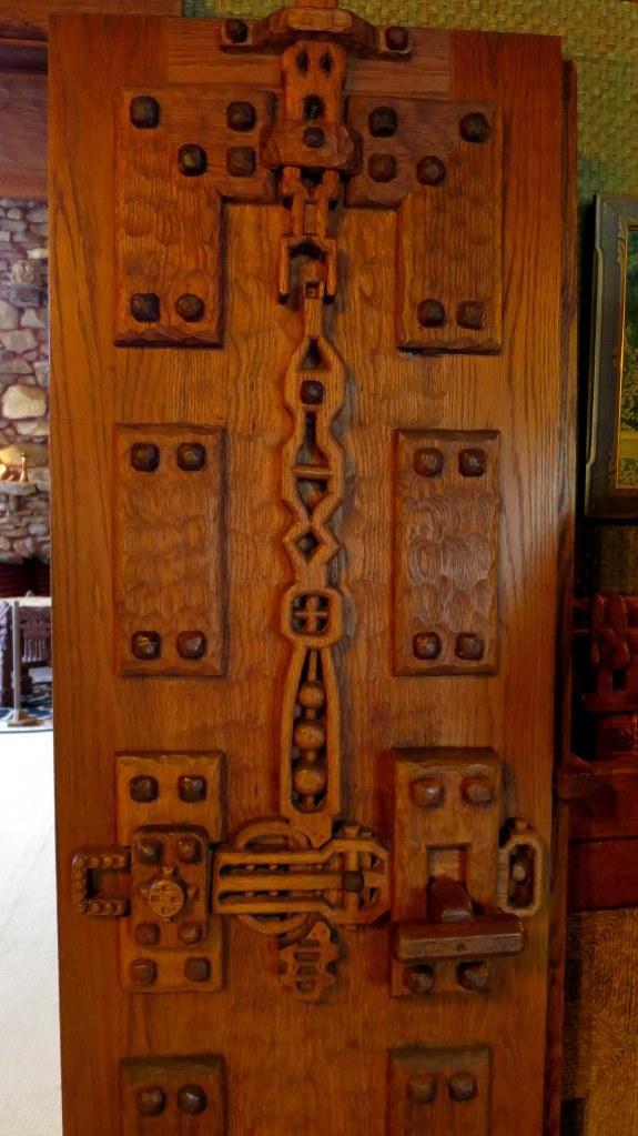 Carved door, Gillette's Castle, Gillette Castle State Park, Connecticut