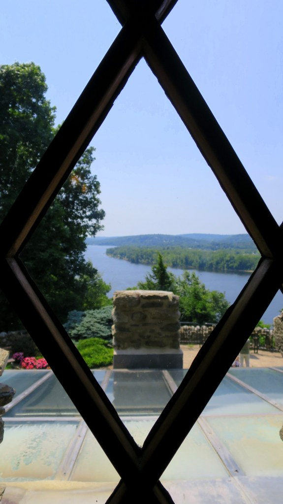 View of the Connecticut River from the second floor, Gillette's Castle, Gillette Castle State Park, Connecticut