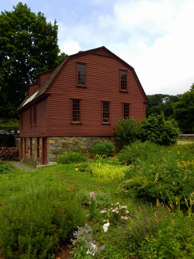 Sylvanus Brown House and medicinal herb garden, Slater Mill Historic Site, Pawtucket, Rhode Island