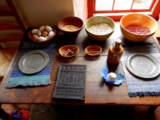 Kitchen table, Sylvanus Brown House, Slater Mill Historic Site, Pawtucket, Rhode Island